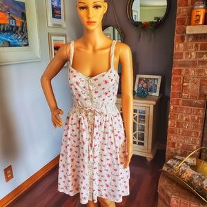 Candie's floral and stripes adorable summer dress